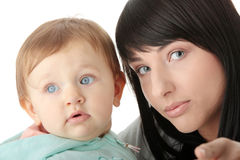 Mother and her baby girl Stock Photos