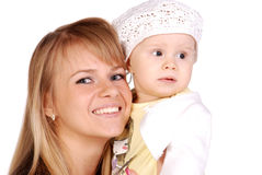 Mother with her baby girl Stock Images