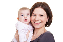 Mother with her baby girl Royalty Free Stock Photo