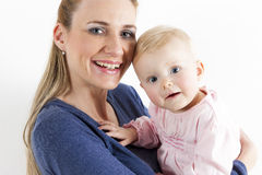 Mother with her baby girl Royalty Free Stock Images