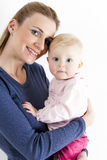 Mother with her baby girl Stock Photos