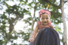 Mother and her baby outdoors Stock Photography