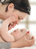 Mother with her baby Royalty Free Stock Photos