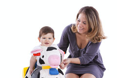 Mother with her baby son Royalty Free Stock Photography