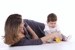 Mother with her baby son Royalty Free Stock Images