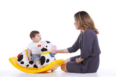 Mother with her baby son Royalty Free Stock Image