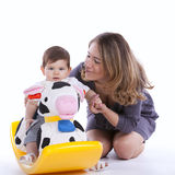 Mother with her baby son Stock Photo