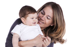 Mother with her baby son Royalty Free Stock Photo