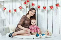 Mother and her baby son Royalty Free Stock Photo