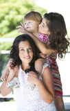 Mother with her beautiful daughters Stock Photography