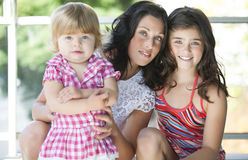 Mother with her beautiful daughters Royalty Free Stock Image