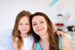 Mother and her birthday daughter party Royalty Free Stock Photo