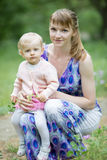 Mother with her charming daughter Royalty Free Stock Image