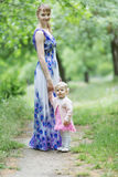 Mother with her charming daughter Stock Photography