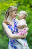Mother with her charming daughter Stock Photo