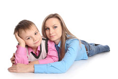 Mother and her child Royalty Free Stock Images