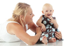 Mother with her child Royalty Free Stock Photos