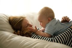 Mother and her child Stock Photo