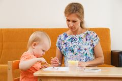 Mother and her child Stock Photography
