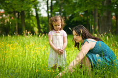 Mother with her child outdoors Royalty Free Stock Photo