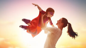 Mother and her child playing Royalty Free Stock Images
