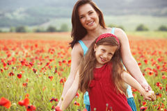 Mother with her child in sunlight Royalty Free Stock Photo
