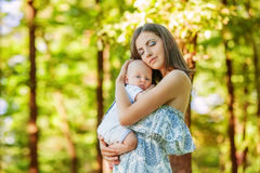 Mother with her child take rest Royalty Free Stock Photos