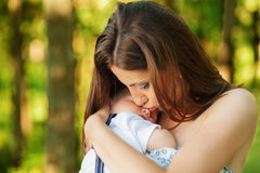 Mother with her child take rest Stock Image