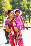 Mother with her child visit the Taj Stock Photo