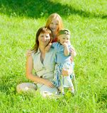 Mother with her children Stock Image