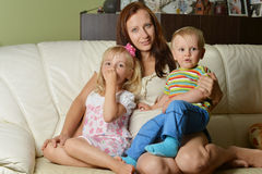 Mother and her children Royalty Free Stock Image