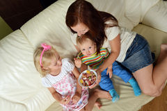 Mother and her children Stock Photography