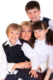 Mother and her children Royalty Free Stock Photo