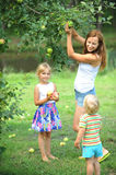 Mother and her children Stock Photo