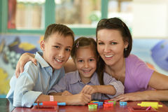 Mother with her children Stock Photography