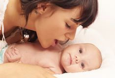 Mother with her cute baby Royalty Free Stock Images