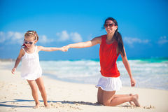 Mother with her cute daughter enjoy the holiday Royalty Free Stock Photography