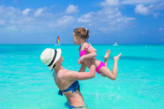 Mother with her cute daughter enjoy summer Royalty Free Stock Image