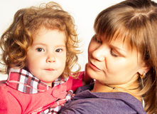 Mother and her daughter Royalty Free Stock Photos