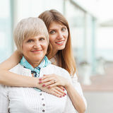 Mother with her daughter stock photography