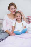 Mother with her daughter at bedtime Royalty Free Stock Photos