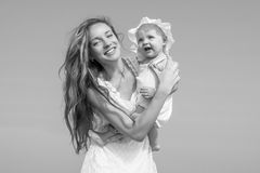 Mother and her daughter having fun Royalty Free Stock Images