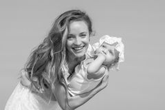 Mother and her daughter having fun Royalty Free Stock Image