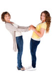 Mother with her daughter, indoors Royalty Free Stock Images