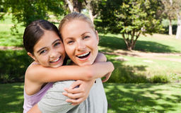 Mother and her daughter laughting Stock Photography