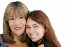 Mother with her daughter looking at the camera Royalty Free Stock Image