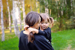 Mother and her daughter on outdoor Royalty Free Stock Image