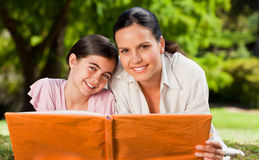 Mother and her daughter in the park Stock Photography