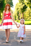 Mother and her daughter at the park Royalty Free Stock Photography