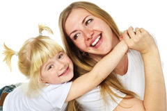 Mother with her daughter playing Royalty Free Stock Image